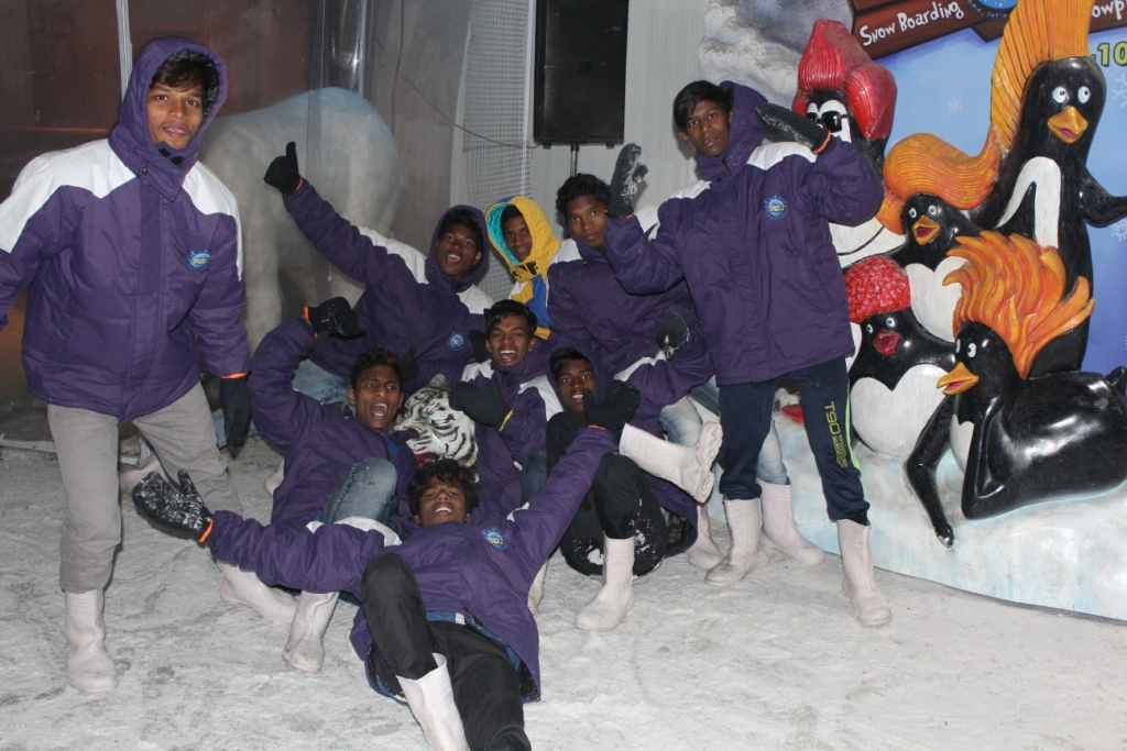 Class Trip-Boys at Snow world2