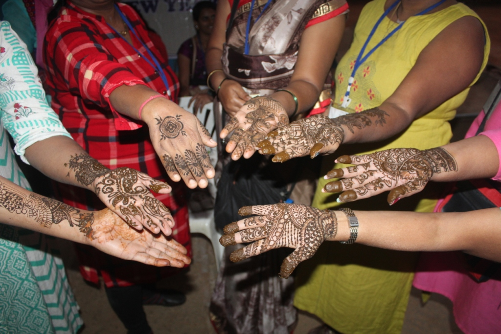 Mehendi-by the students and volunteers in ADBawla