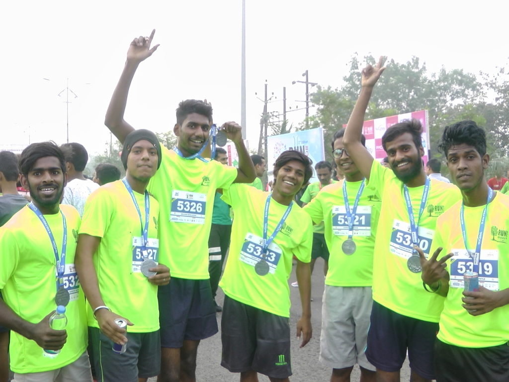 Tarun Sadan Boys after Run4Diversity 5 km Marathon, Kharghar